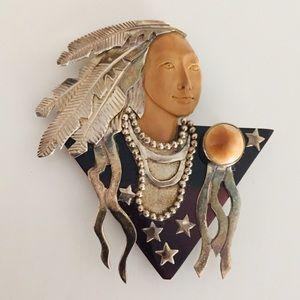 Legal Ivory Native American Pendant